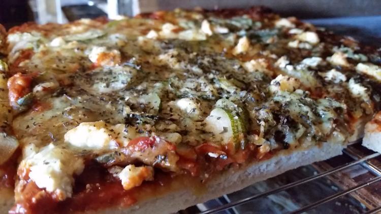 Pizza chèvre-épinard