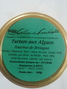 Tartare aux algues fraiches de Bretagne
