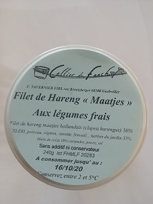 Filet de hareng Maatjes aux 5 légumes & aromates du jardin