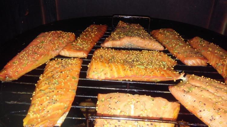 Pavé de saumon Ecosse épicé fumé à chaud sans peau