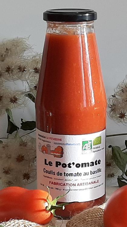 Grand coulis de tomate au basilic