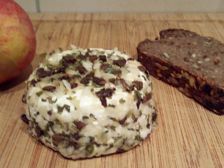 Fromage de chèvre saveur champignon