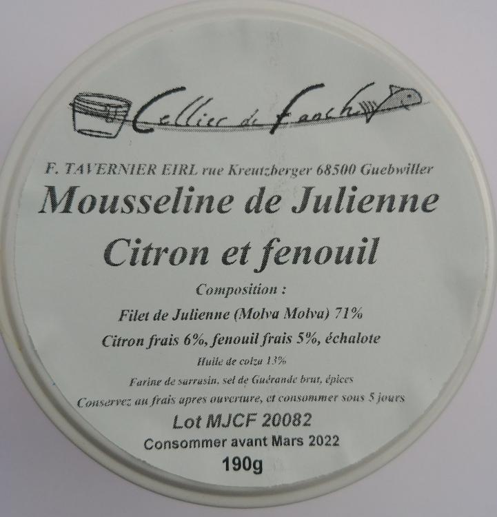 Mousseline de julienne citron fenouil