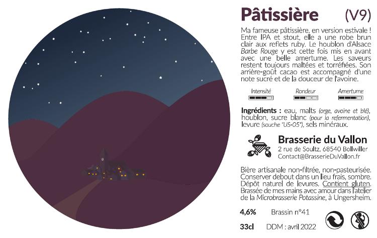 Bière brune pâtissière 75 cl 4.6 %alc