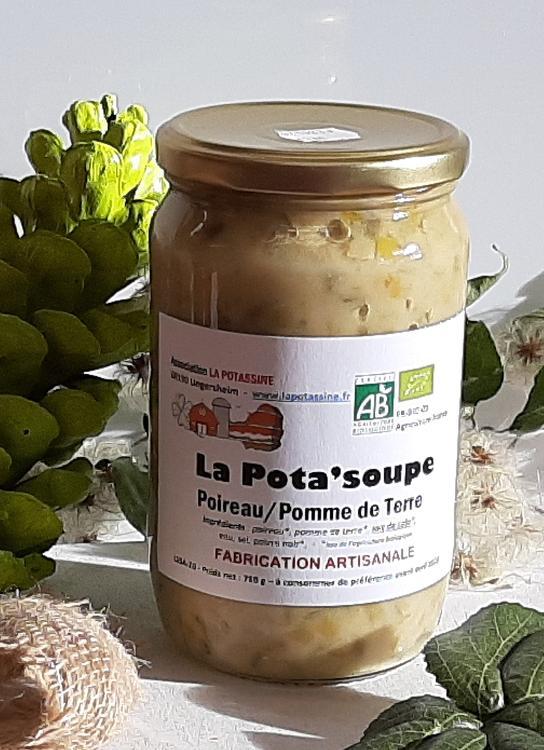 Soupe aux poireaux, pdt, soja