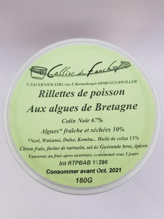 Rillettes de poissons aux algues de Bretagne