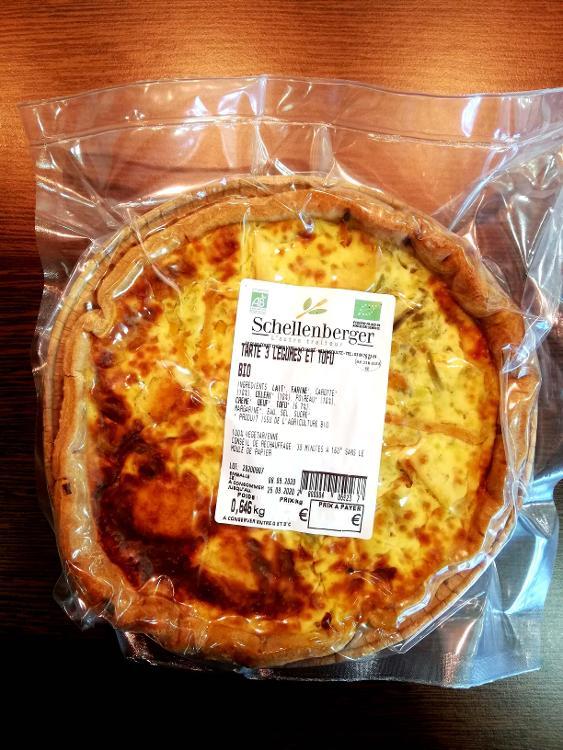 Tarte aux 3 légumes et tofu 3/4 pers BIO