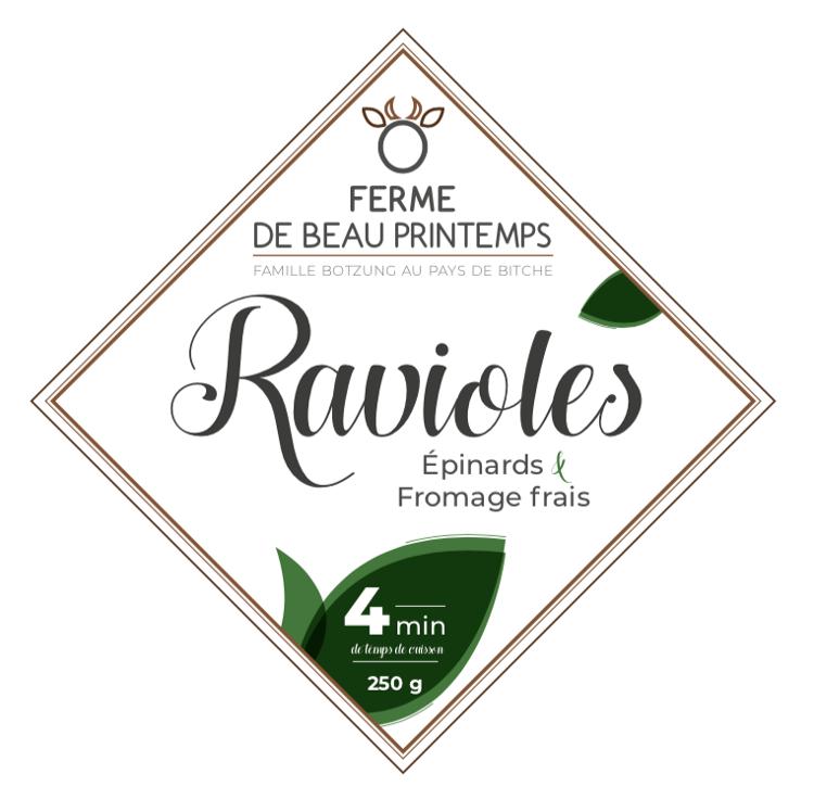 Ravioles de la Ferme Epinards Fromage Frais BIO
