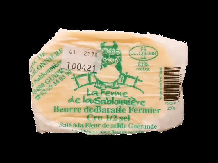 Beurre de baratte demi-sel - 250g