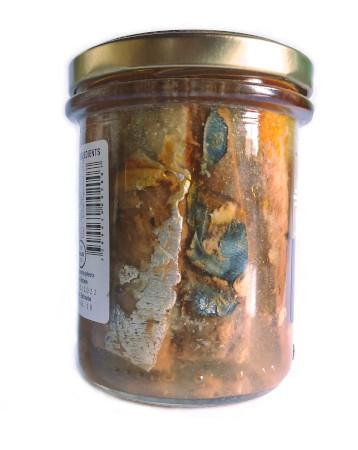 Filets de maquereaux fumés à l'huile de tournesol