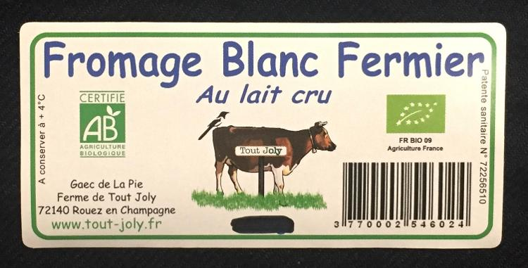 Fromage Blanc Onctueux Vrac