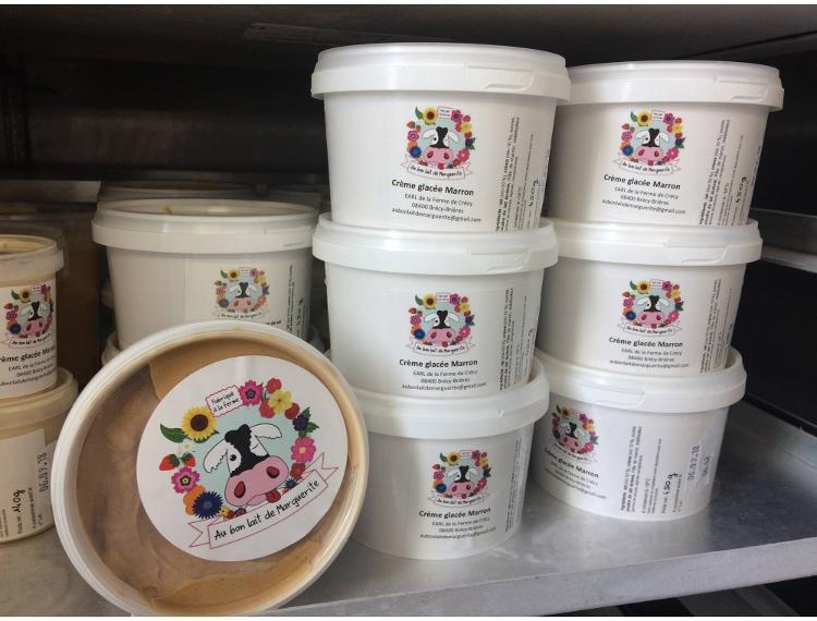 Crème Glacée Marron Glacé