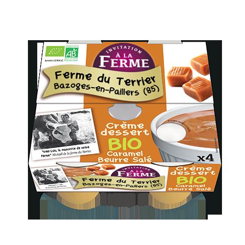 Crème dessert Caramel beurre salé 4x100g