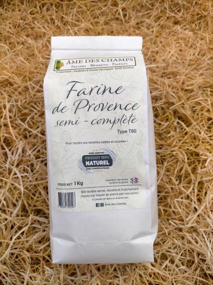 Farine de Provence semi-complète moulue à Monteux