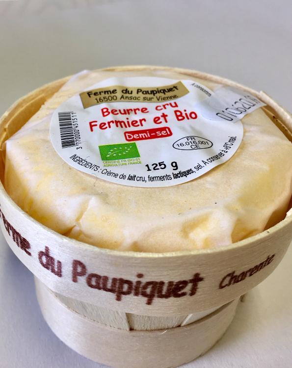 Beurre Fermier Bio Demi-Sel 125g