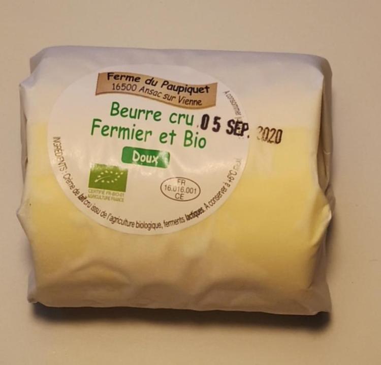 Beurre Fermier Bio Doux 250g