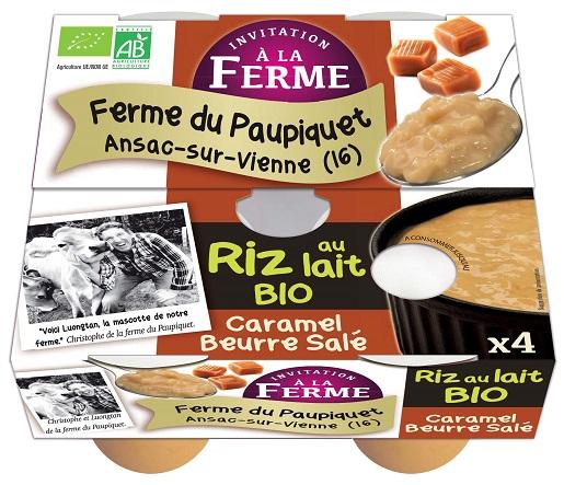 Riz au lait au Caramel beurre salé 4x125g