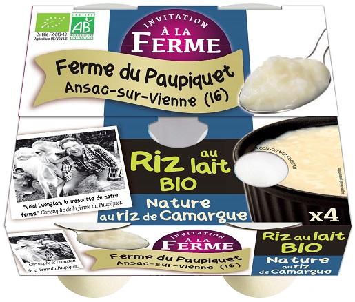 Riz au lait nature 4x125g