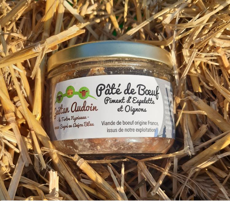 Paté de Boeuf au piment d'Epelette et oignons
