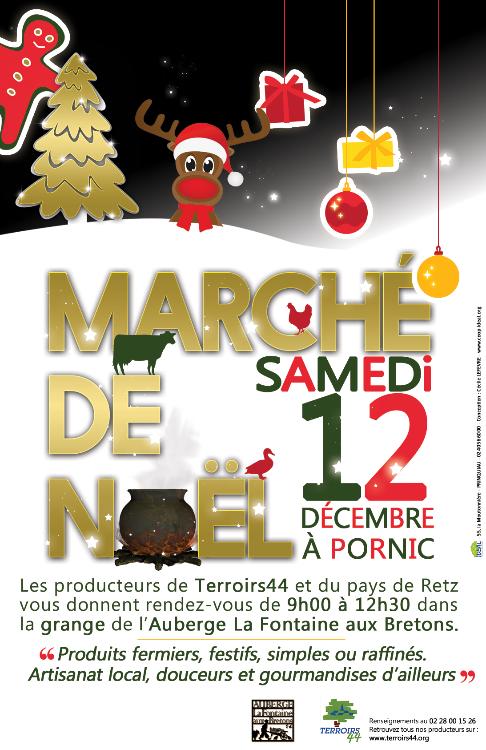 Marché fermier de Noël 2015 à Pornic - La Fontaine aux Bretons