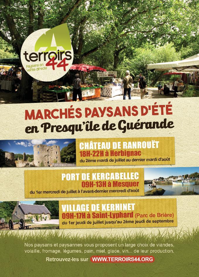 Début des marchés paysans d'été sur le Presqu'île !