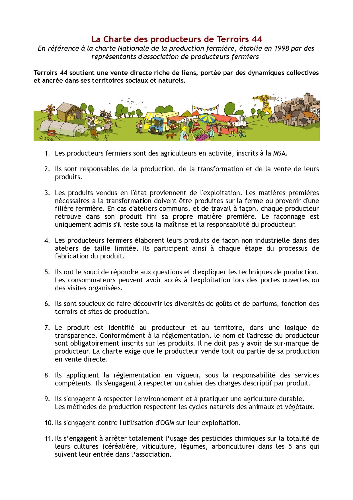 LA CHARTE TERROIRS 44