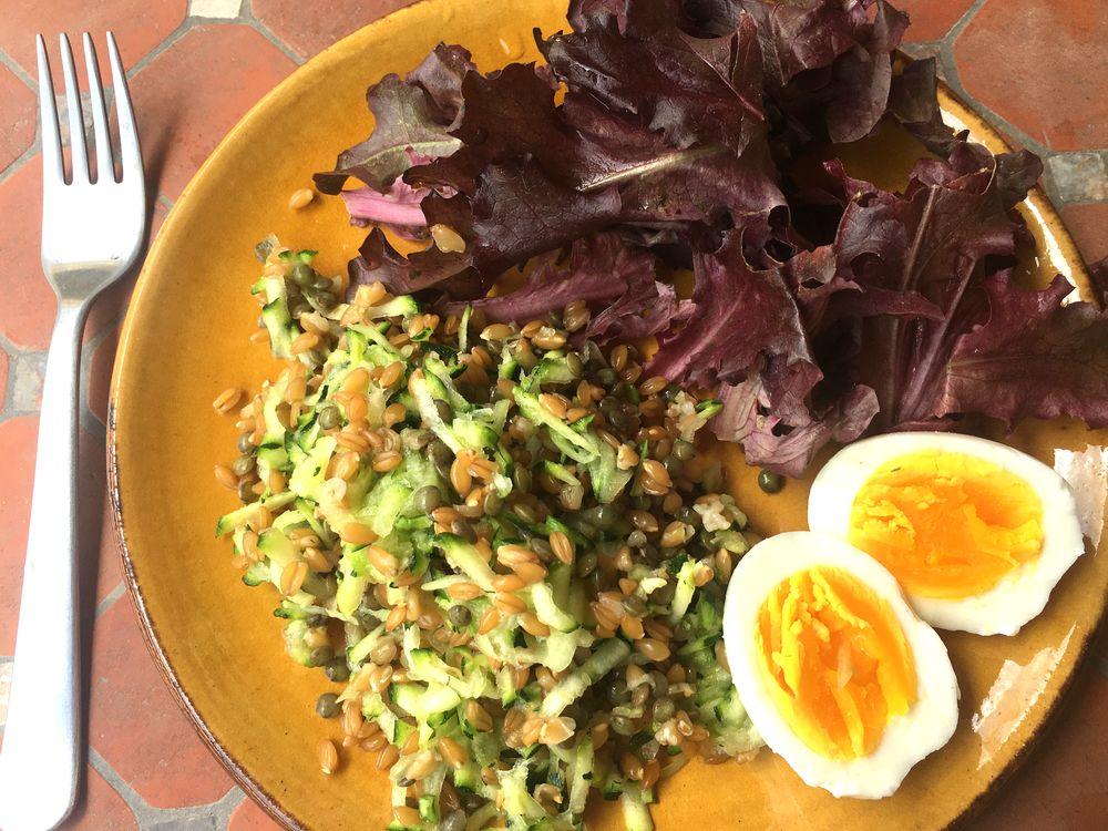 Salade lentilles et petit épeautre