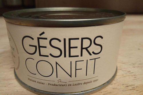 Confit: gésiers 110 g