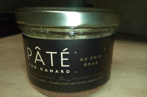 Pâté pur canard au foie gras 180 g