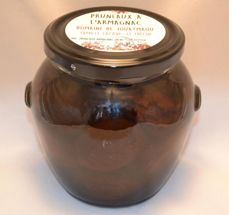 Le bocal de pruneaux à l'Armagnac du Domaine de Jouatmaou