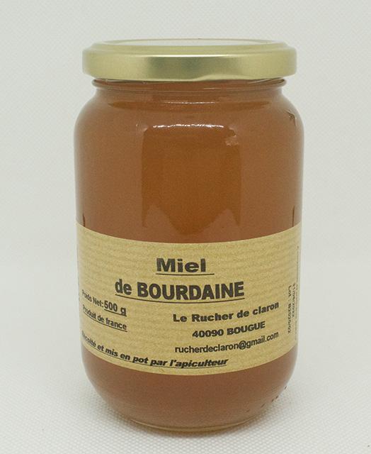 Les Ruchers de Claron - Miel de BOURDAINE 500 GR