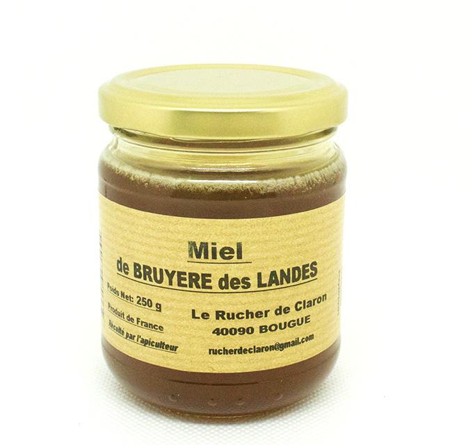 Les Ruchers de Claron - Miel de BRUYERE 250 GR