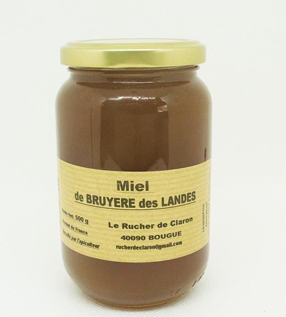 Les Ruchers de Claron - Miel de BRUYERE 500 GR