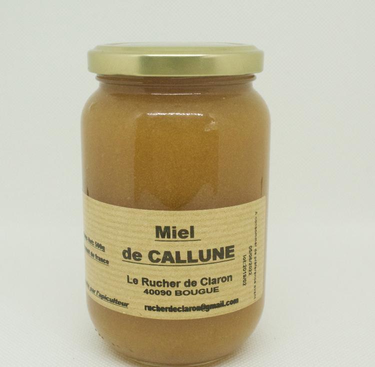Les Ruchers de Claron - Miel de CALLUNE 500 GR