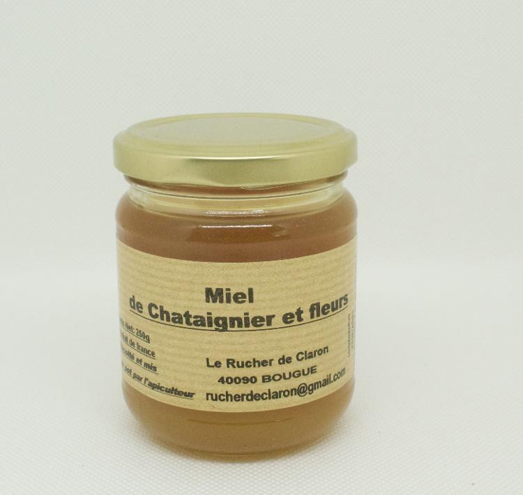 Les Ruchers de Claron - Miel de CHATAIGNIER 250 GR