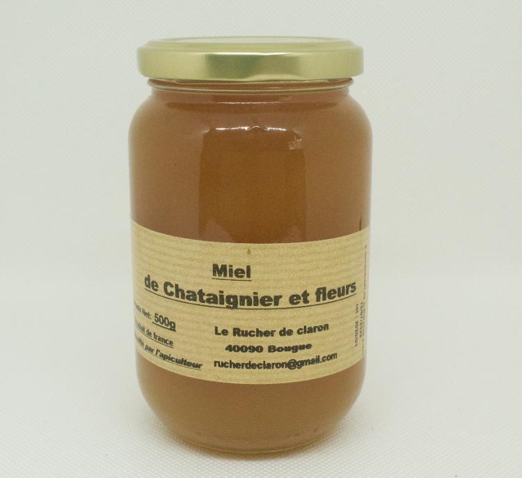 Les Ruchers de Claron - Miel de CHATAIGNIER 500 GR