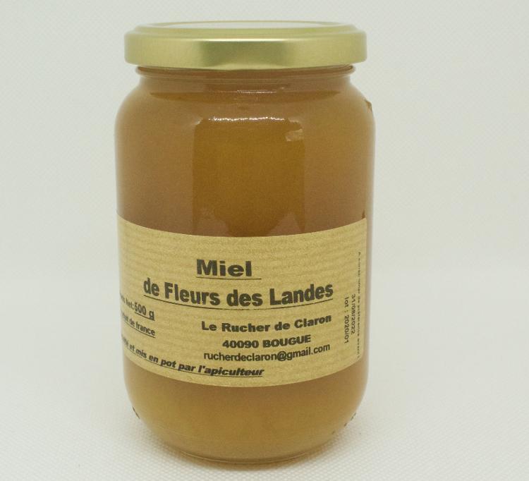 Les Ruchers de Claron - Miel de FLEURS 500 GR