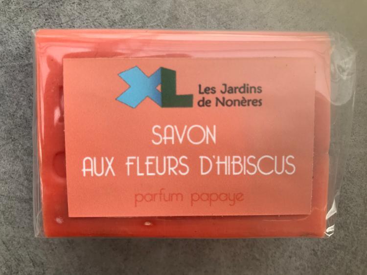 Savon - Fleurs d'hibiscus parfum papaye