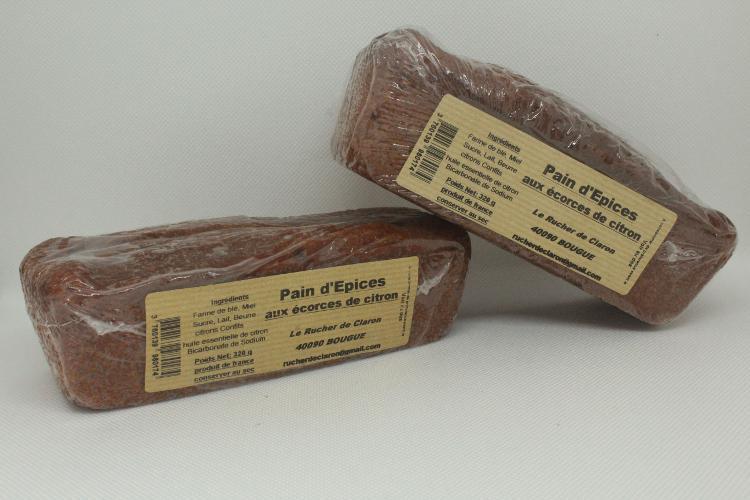 Les Ruchers de Claron - Pain d'épices CITRON