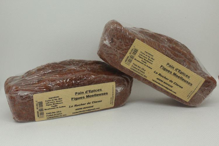 Les Ruchers de Claron - Pain d'épices FIGUES