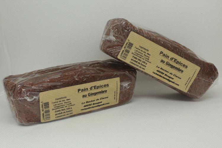 Les Ruchers de Claron - Pain d'épices GINGEMBRE
