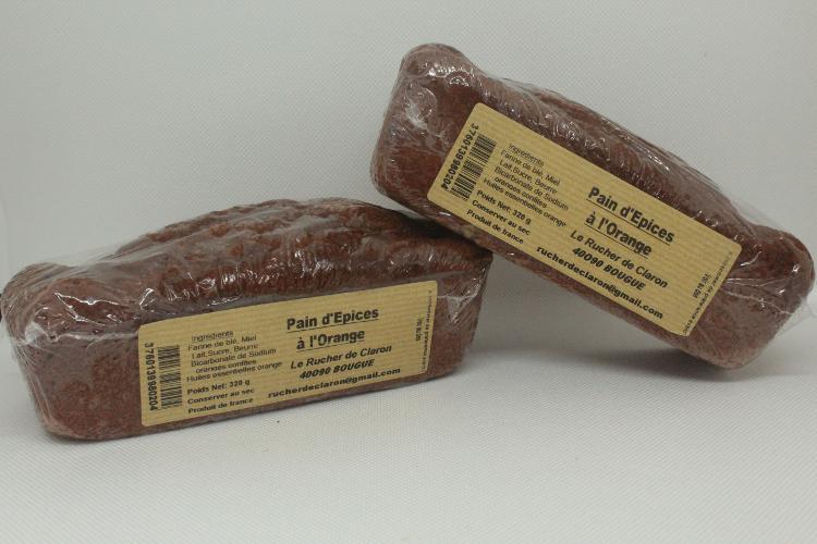 Les Ruchers de Claron - Pain d'épices ORANGE