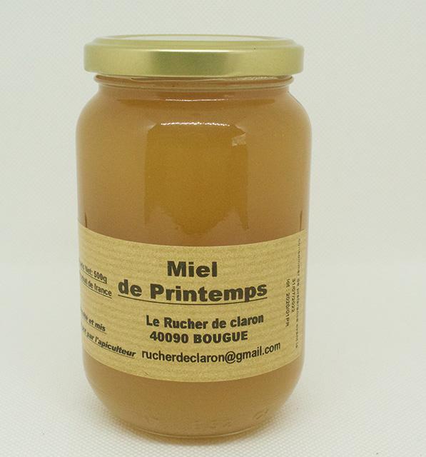 Les Ruchers de Claron - Miel de PRINTEMPS 500 GR