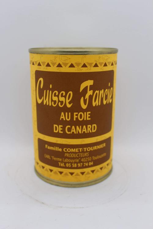Cuisse farcie au foie gras de canard
