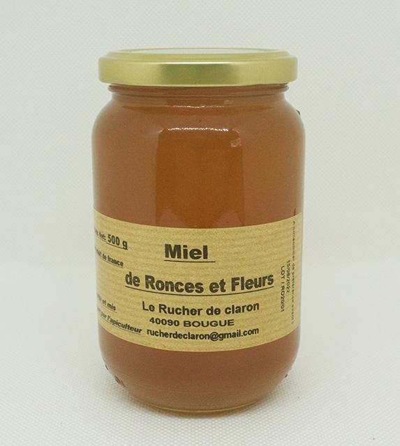 Les Ruchers de Claron - Miel de RONCE 500 GR