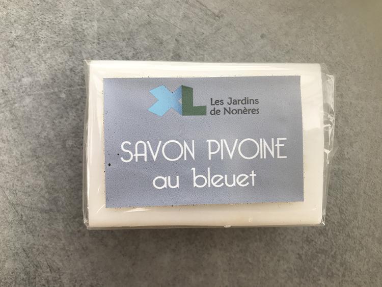 Savon - Fleurs de bleuet parfum pivoine