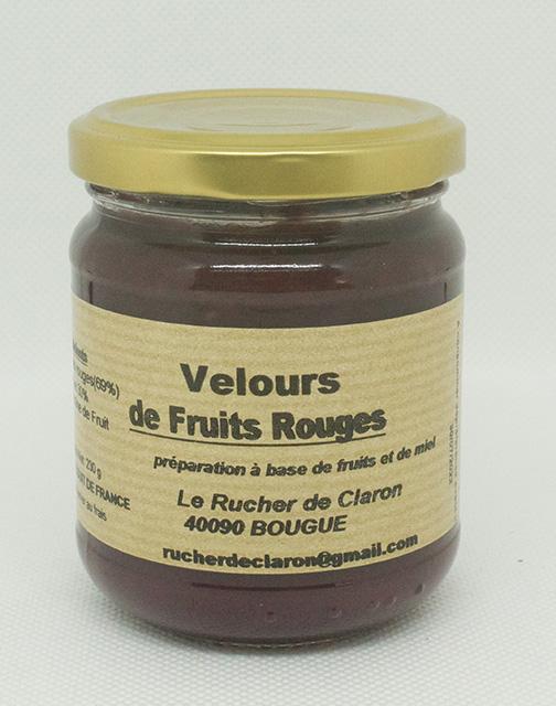 Les Velours des Ruchers de Claron - FRUITS ROUGES