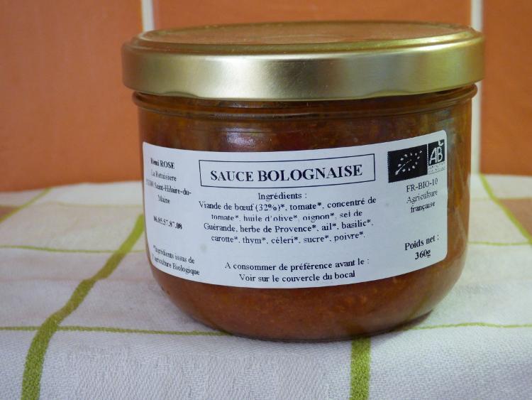 recette traditionnelle de sauce bolognaise bocal stérilisé