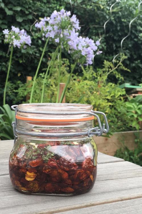 Conserve de tomates séchées