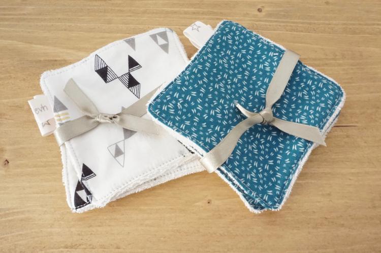 Lingettes bleues & Blanches